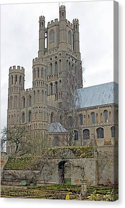 West Tower Of Ely Cathedral  Canvas Print
