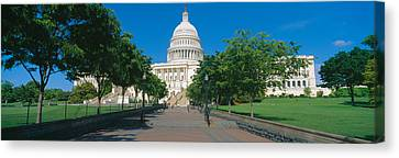 West View Of Us Capitol Building Canvas Print by Panoramic Images