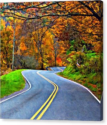 West Virginia Curves 2 Oil Canvas Print by Steve Harrington