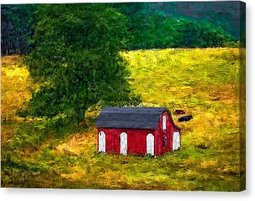 West Virginia Impasto Canvas Print by Steve Harrington