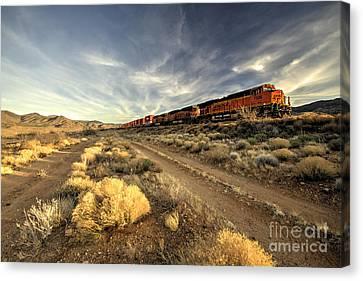 Flagstaff Canvas Print - Westbound Freight  by Rob Hawkins
