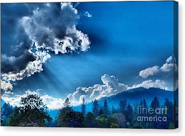 Westerly Clouds Canvas Print