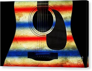 Western Abstract Guitar 1 Canvas Print