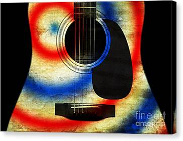 Western Abstract Guitar 2 Canvas Print