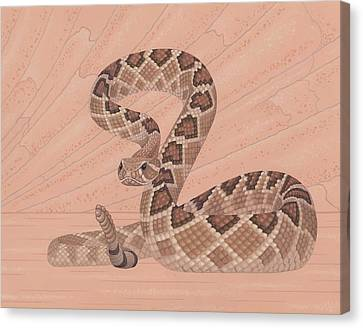 Diamondbacks Canvas Print - Western Diamondback Rattlesnake by Nathan Marcy