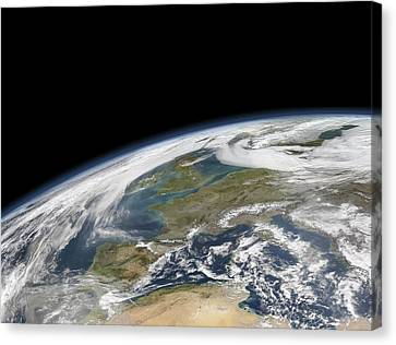 Western Europe, Satellite Image Canvas Print by Science Photo Library