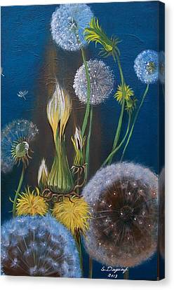 Western Goat's Beard Weed Canvas Print by Sharon Duguay