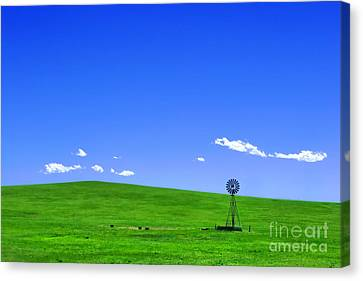 Western Hill  Canvas Print by Olivier Le Queinec