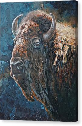 Art Of Mia Delode Canvas Print - Western Icon by Mia DeLode