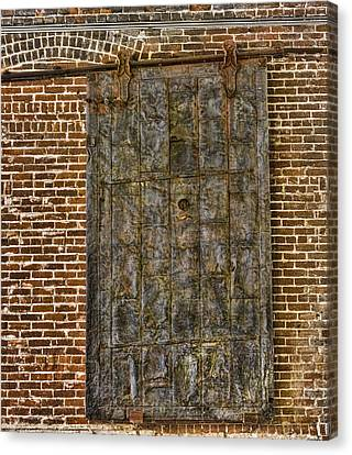 Western Metal Supply Door Canvas Print by Photographic Art by Russel Ray Photos