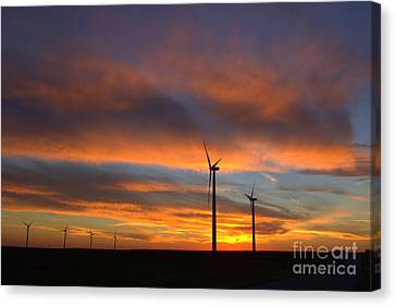 Canvas Print featuring the photograph Western Oklahoma Skies 1 by Jim McCain