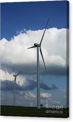 Canvas Print featuring the photograph Western Oklahoma Wind Farm by Jim McCain