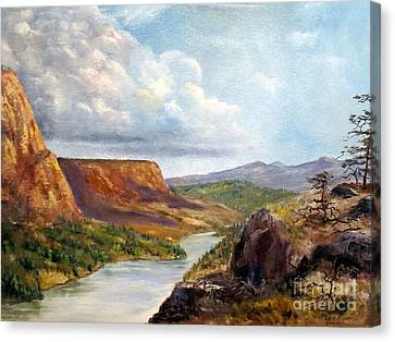 Western River Canyon Canvas Print by Lee Piper