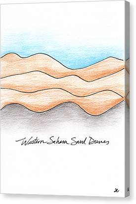 Western Sahara Sand Dunes 1 Canvas Print