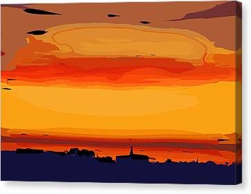 Canvas Print featuring the digital art Western Sky by Kirt Tisdale