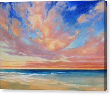 Canvas Print featuring the painting Western Skys by Andrew Danielsen