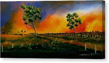 Western Sunset Canvas Print by Sandra Sengstock-Miller