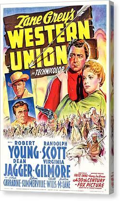 Western Union, Robert Young, Randolph Canvas Print