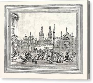Western View Of All Souls College Oxford Oxford University Canvas Print