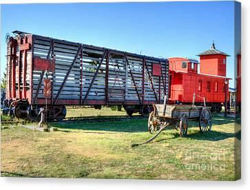 Western Wagon Train Canvas Print