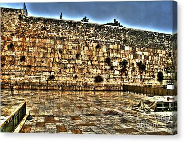 Canvas Print featuring the photograph Western Wall In Israel by Doc Braham