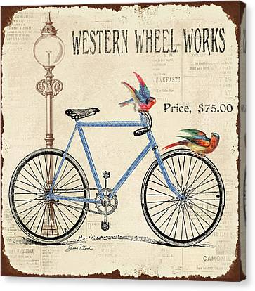 Lamp Post Canvas Print - Western Wheel Works by Jean Plout