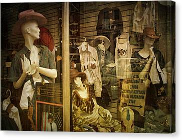 Western Window Display In Nashville Tennessee Canvas Print by Randall Nyhof