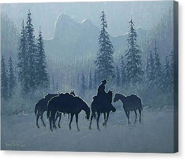 Western Winter Canvas Print by Randy Follis