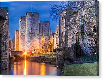 Westgate Towers At Night Canvas Print by Ian Hufton