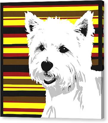 Westie Canvas Print by Cindy Edwards