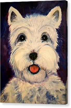 Westie Canvas Print by Debi Starr