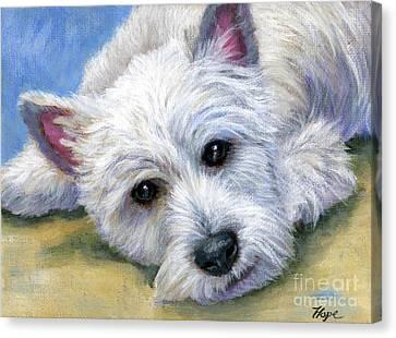 Westie Canvas Print by Hope Lane