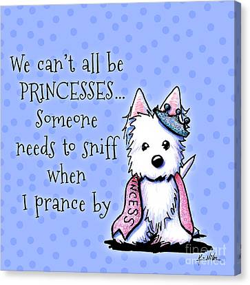 Westie Princess Canvas Print