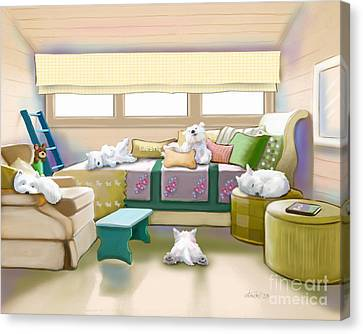 Westie Retreat  Canvas Print