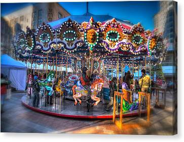 Westlake Carousel Canvas Print by Spencer McDonald