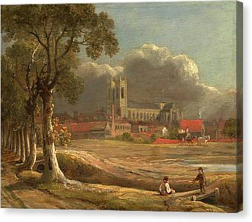 Westminster Abbey From Tothill Fields London Signed Canvas Print by Litz Collection