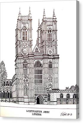 Westminster Abby - London Canvas Print by Frederic Kohli