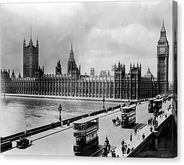 Westminster Bridge And Parliament Canvas Print