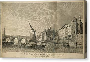 Westminster Bridge Canvas Print by British Library