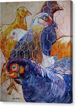 Wet Hens Canvas Print by Kris Parins