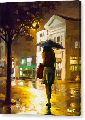 Wet Night Canvas Print