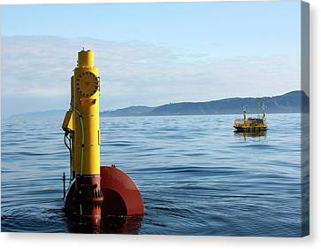 Wet-nz Wave Energy Converter Being Tested Canvas Print by Northwest Energy Innovations/us Department Of Energy