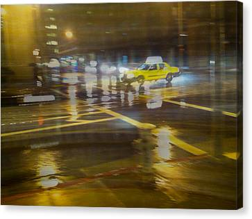 Canvas Print featuring the photograph Wet Pavement by Alex Lapidus