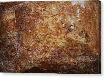 Canvas Print featuring the photograph Wet Rock by J L Zarek
