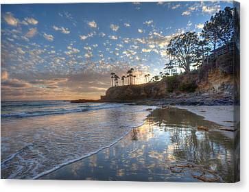 Wet Sand Reflections Laguna Beach Canvas Print