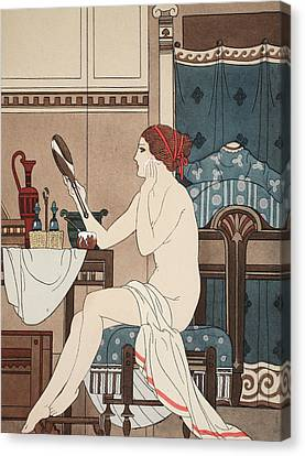 Dressing Room Canvas Print - Wet With Cerate Made With Rose Oil by Joseph Kuhn-Regnier