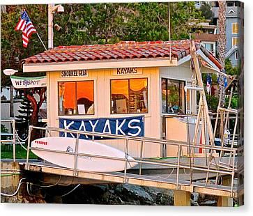 Wetspot Kayak Shack Canvas Print by Jeff Gater