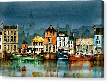 Wexford Quayside Canvas Print