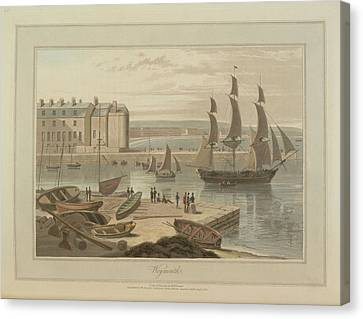 Weymouth Harbour Canvas Print by British Library