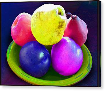 Whadda Pear Exclamation Point Canvas Print by Ginny Schmidt